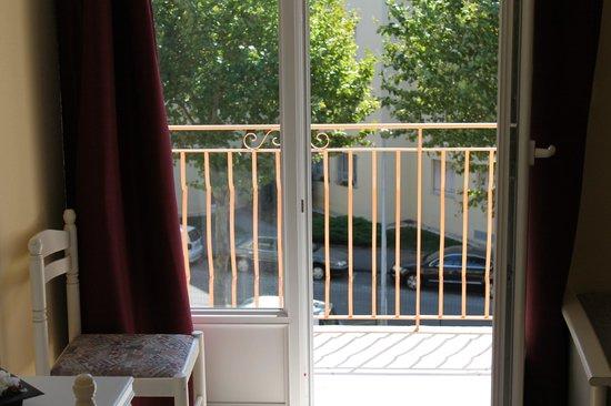 Hôtel California : terrasse chambre