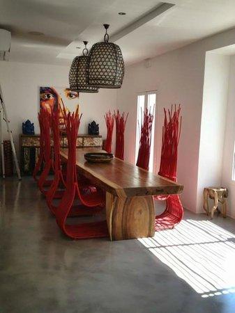 Ibizazen: salle à manger d'hivers