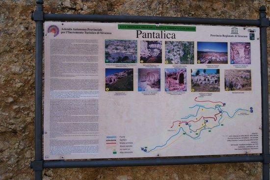 Necropoli di Pantalica: Prospetto dei percorsi