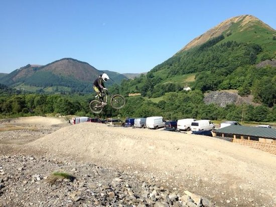 Llangynog, UK: Revolution Bike Park - The Finish Line