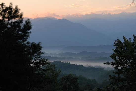 Timberwinds Log Cabins: View From Deck of Great Smokies