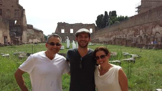 Rome Illuminated Guided Tours : That's Evan the middle. What a great day in Rome!!