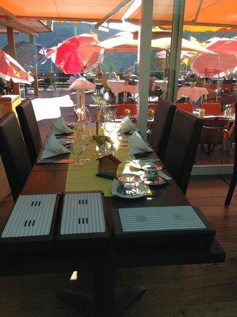Landidyll Hotel Albtalblick: Auf der Terasse zum Abendessen