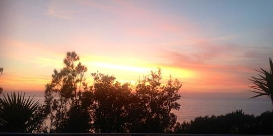 Bannisters by the sea: Sunrise....