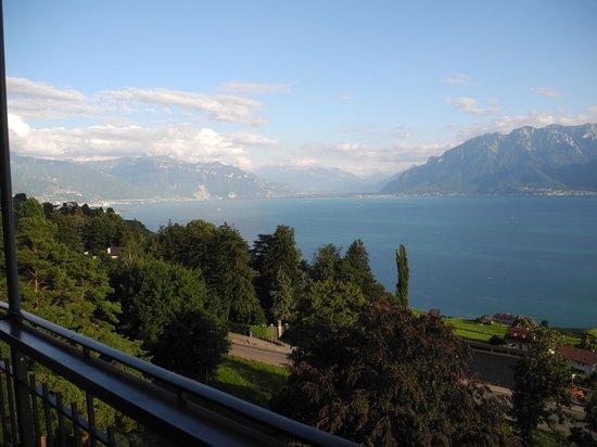 Hotel-Restaurant Prealpina: Aussicht vom Balkon unseres Zimmers Richtung Westen