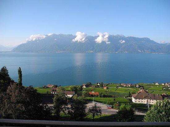 Hotel-Restaurant Prealpina: Aussicht vom Balkon unseres Zimmers Richtung Süden