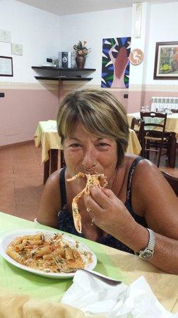 Drapia, Italia: maccheroni con gli scampi