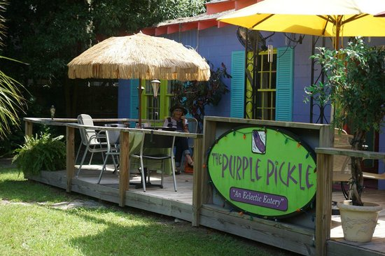 Nice fall day, at the Purple Pickle Photo from Dick Hochman