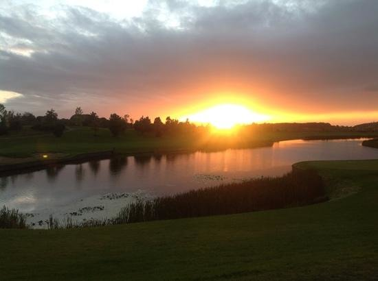 The Heritage Killenard: sunset from the clubhouse