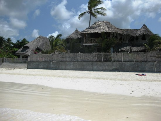 Mamamapambo Boutique Hotel: View of the hotel's beachfront at low tide