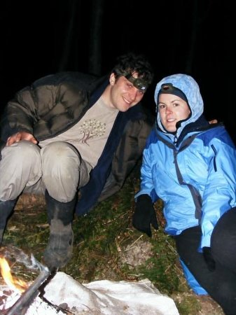 Ballygarvan, Ireland: Enjoying a dark night in the woods