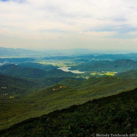 Mudeungsan National Park: View from the top of Seoseokdae Summit