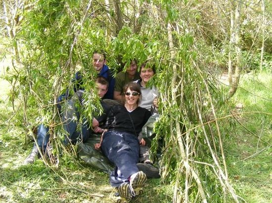Ballygarvan, Irlandia: A living willow shelter