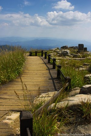 Mudeungsan National Park: The trail down from the summit