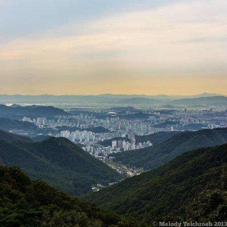 Mudeungsan National Park: View of Gwangju on the way down the mountain