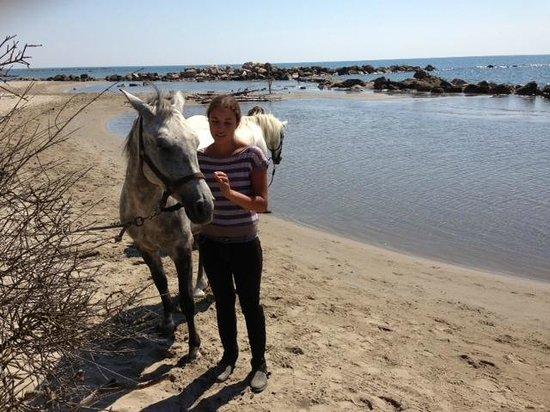 Promenade à cheval, Chez Elise : plage