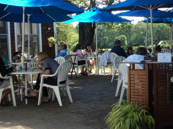 Merriland Farm Cafe: outdoor seating