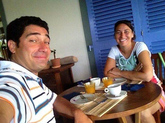 Demeure de Cap Macon: Con mia moglie Rita a colazione!