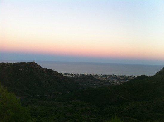 Desierto de las Palmas: Desde la terraza. Vista cenando