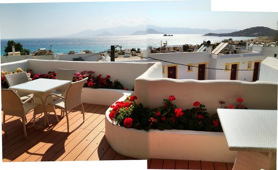 Naxos Island Hotel: View from rooftop terrace.