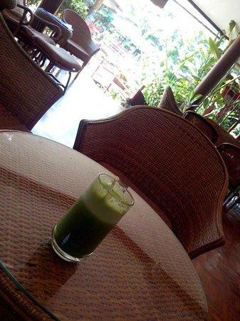Tao Garden Health Spa & Resort: Suco de maçã verde