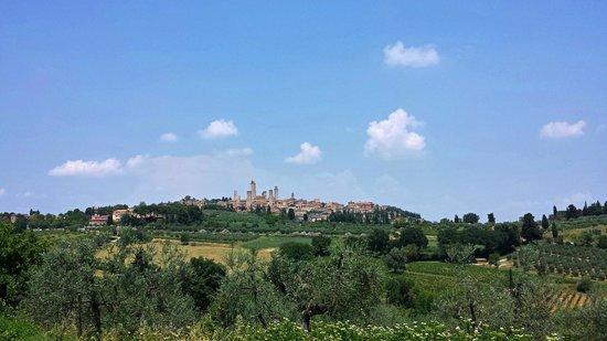 Casale Gregoriano: Desde mi habitación, San Gimignano