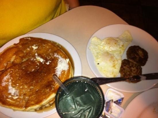 Recipe Box Mamas Breakfast 2 Eggs Sausage Pancakes All