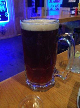 Hoss's Deli: 32 mug of Tank 7 Boulevard Beer