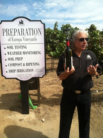 The INN at Europa Village : Dr. Doug wine Education class