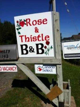 Rose & Thistle Bed & Breakfast : À bonne enseigne