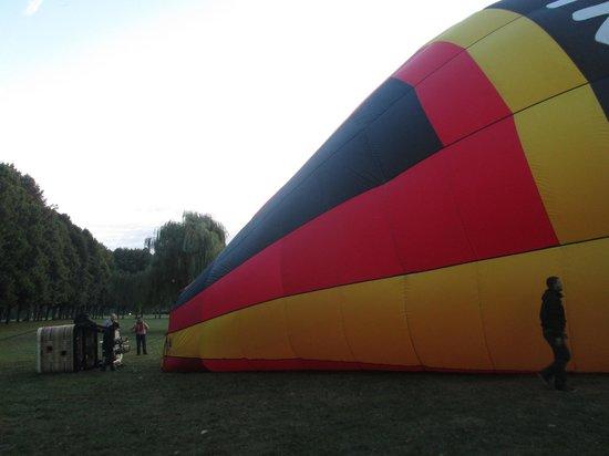 Ballon Plaisir : Gonflage du ballon