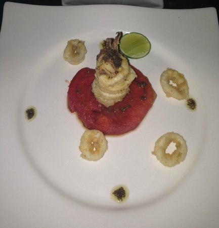 Barracuda Restaurant: CALAMARI SU ANGURIA AL FORNO