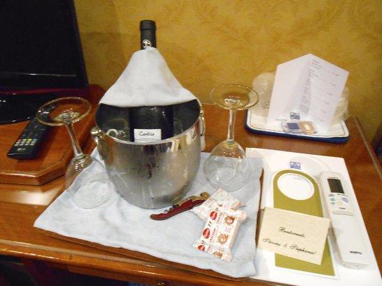 Raffaello Hotel : petit cadeau d'arrivée