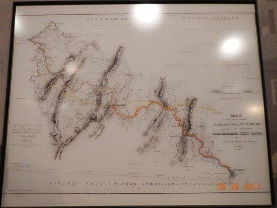 C&O Canal National Historical Park and Visitors Museum: Canal Map