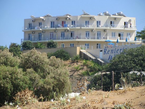 Renieris Hotel: Blick vom Strand