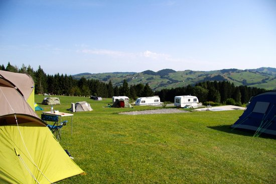 Landgasthof Eischen: View over the main section of the campsite