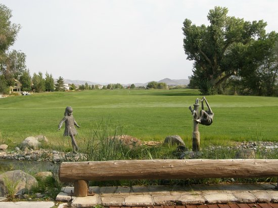 Sparks, NV: Water feature at the 18th hole