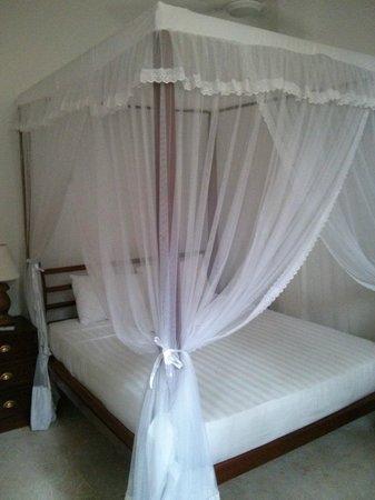 Pedlar62 Guest House: Cama con mosquitera