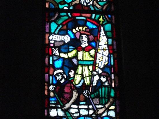 Sanctuaire Notre-Dame-du-Cap : vitrail pour Louis Jolliet