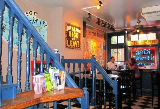 King Street Blues: Stairway to upstairs dining room
