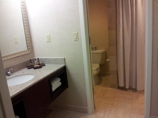 Washington Dulles Marriott Suites: Sink Area in Bathroom (separate from rest of bathroom)