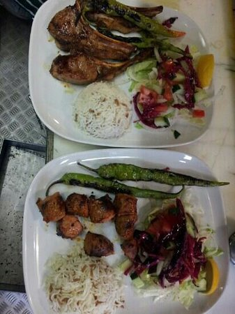 Troy: pirzola (lamb chops) and kuzu sis kebab (chunk of lamb on the skewers)