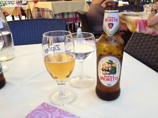 Osteria degli Amici : ice cold beer on a hot day