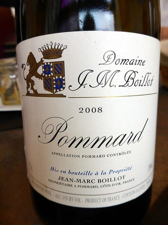 Restaurant Jean-Michel Couron: le vin de bourgogne