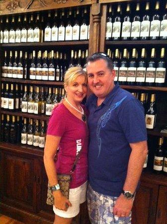 Becker Vineyards : A couple's photo among the vino!
