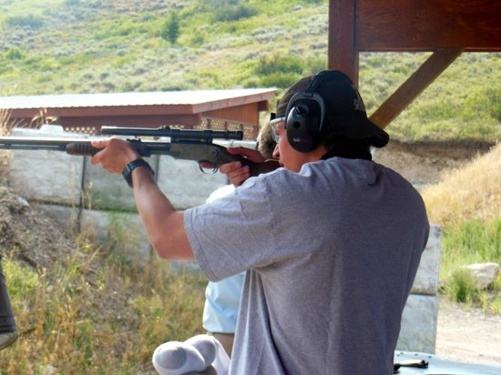 Jackson Hole Shooting Experience: Brother standing to shoot