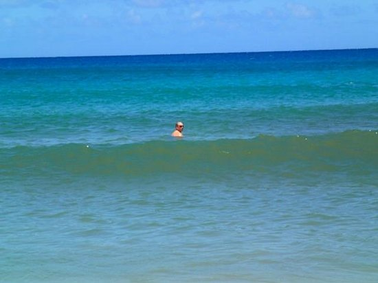 Hanalei Beach: Areas with gentle rolling waves to submerse