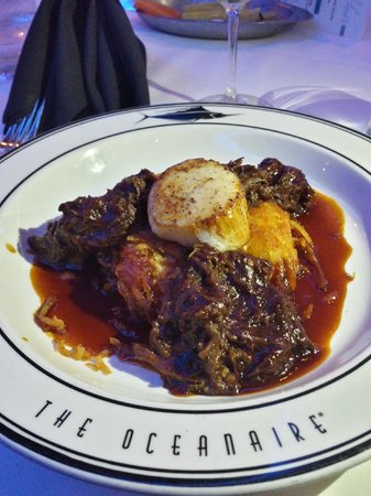 The Oceanaire Seafood Room : BBQ short ribs and scallops