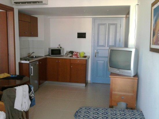 Anastasia Hotel: il soggiorno-cucina