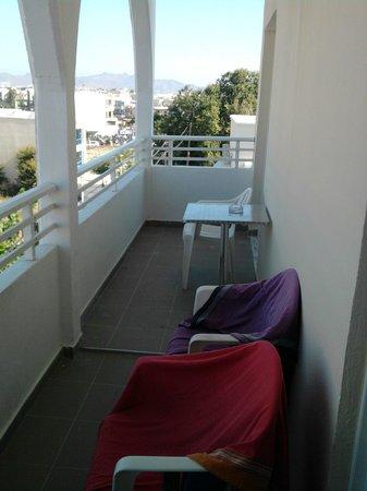 Anastasia Hotel: il balcone molto spazioso